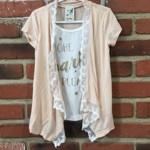 🌈 5 for $25 Girls Layered look top Sz 4